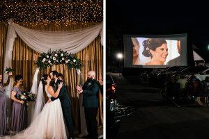 Un mariage en voiture au SunnyBrook Ballroom Pendant Coronavirus