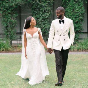 Un mariage glamour en cravate noire à la maison à Houston