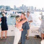 Dans le sillage de COVID-19, ce couple a organisé un mariage dans le port de Boston