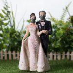 Contemplez le monde sans joie de la marchandise 'Covid Wedding'