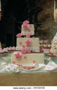 Funny Wedding Cake Bride Groom Banque d'image et photos