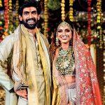 Les couleurs Rana Daggubati et Miheeka Bajaj se coordonnent en crème et or pour le mariage
