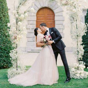 Un mariage intime à la Villa Balbiano sur le lac de Côme