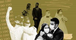 À quoi ressemblent les mariages pandémiques à travers l'Amérique