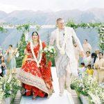 Un mariage à la montagne inspiré du Lehenga de la mariée