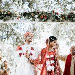 Un mariage hindou intime au milieu des montagnes de Santa Monica