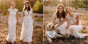 Les mariées portaient des robes coordonnées pour le mariage prévu en seulement 10 jours