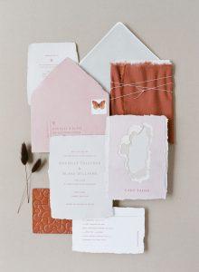 Types de papier d'invitation de mariage et impression