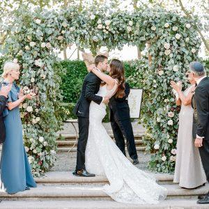 Un mariage d'automne dans la vallée de la Napa au jardin Beaulieu