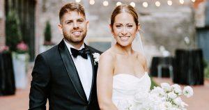 Un mariage en noir et blanc au Fitler Club
