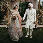 Un mariage socialement éloigné dans l'arrière-cour Boho de la mariée