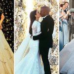 10 robes de mariée de célébrités les plus chères: Salma Hayek, Kim Kardashian et Amal Clooney