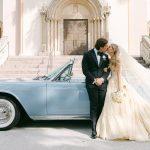 Eunice Kennedy Shriver portait la robe de mariée Dior de sa grand-mère pour se marier à Miami