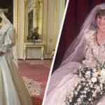 La robe de mariée de la princesse Diana «The Crown» n'a pas montré