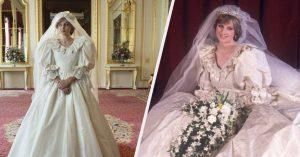 """La robe de mariée de la princesse Diana """"The Crown"""" n'a pas montré"""