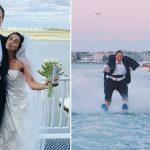 Un couple portait des vêtements de friperie pour célébrer la date originale du mariage