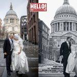Kate Silverton recrée de superbes photos de mariage avec son mari Mike Heron