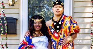 Un beau mariage pandémique dans l'arrière-cour multiculturelle