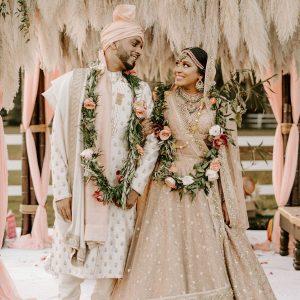 Cérémonie Boho d'un couple et réception glamour à Orlando, Floride