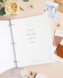 Classeur de planificateur de mariage gratuit imprimable par Basic Invite