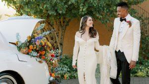 Le mariage de CJ McCollum et Elise Esposito était une affaire intime dans la région viticole de l'Oregon