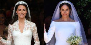 Comment les robes de mariée Kate Middleton et Meghan Markle montrent des personnalités