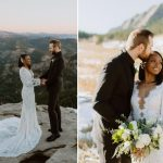 Une mariée portait une robe de mariée de 17000 $ avec des bottes de randonnée jusqu'à sa fuite au sommet de la montagne