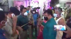 Au milieu d'une tempête de protestations, les dirigeants du BJP demandent l'éviction de Tripura DM pour les fracas de mariage