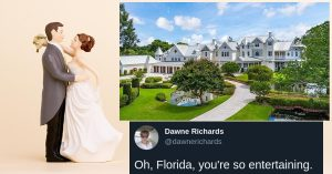 Un couple de Floride empiète sur un manoir de 5,7 millions de dollars pour organiser un mariage