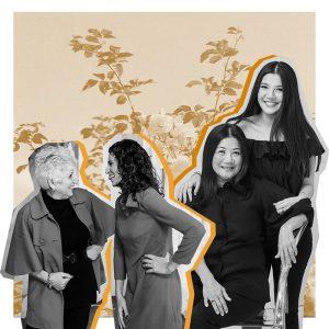 Cinq équipes de vendeurs de mariages mère-fille
