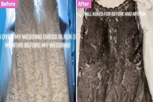 La mariée a été sauvée pour avoir tué sa robe de mariée noire à peine trois mois avant son mariage